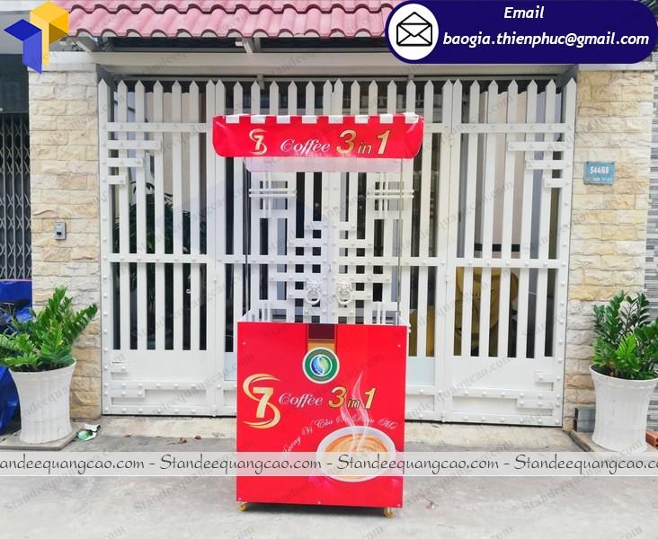 Booth xe cafe take away lắp ráp di động  tại phú quốc