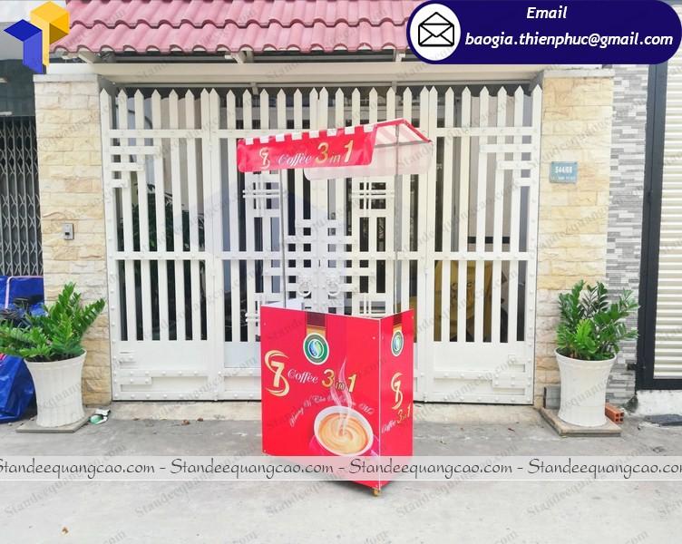 Booth xe cafe take away lắp ráp di động  tại nha trang