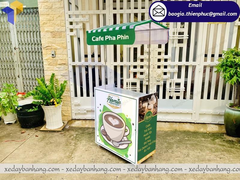 quầy booth lắp ráp bán cafe phin