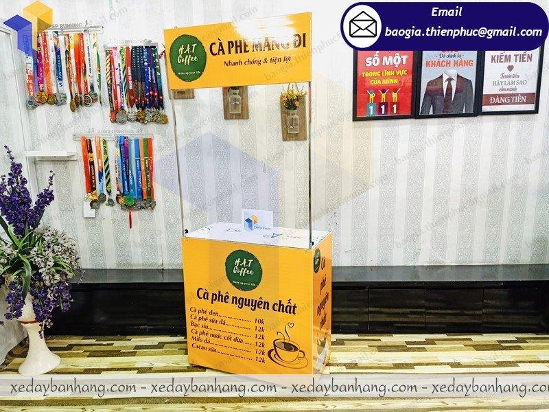báo giá booth bán cafe mang đi giá rẻ