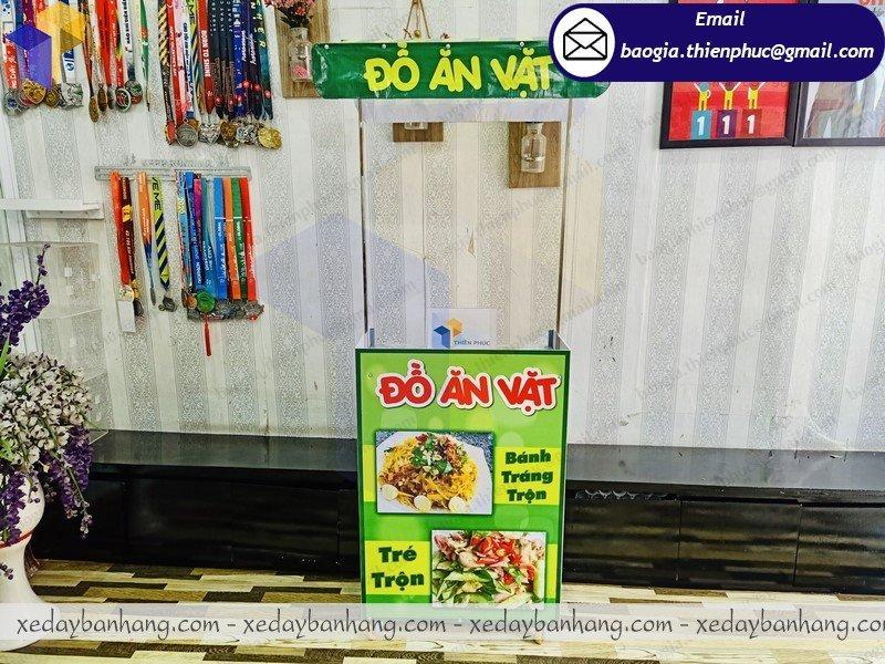 booth lắp ráp bán đồ ăn vặt