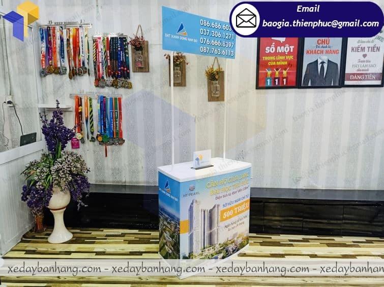 báo giá booth nhựa bán hàng lưu động