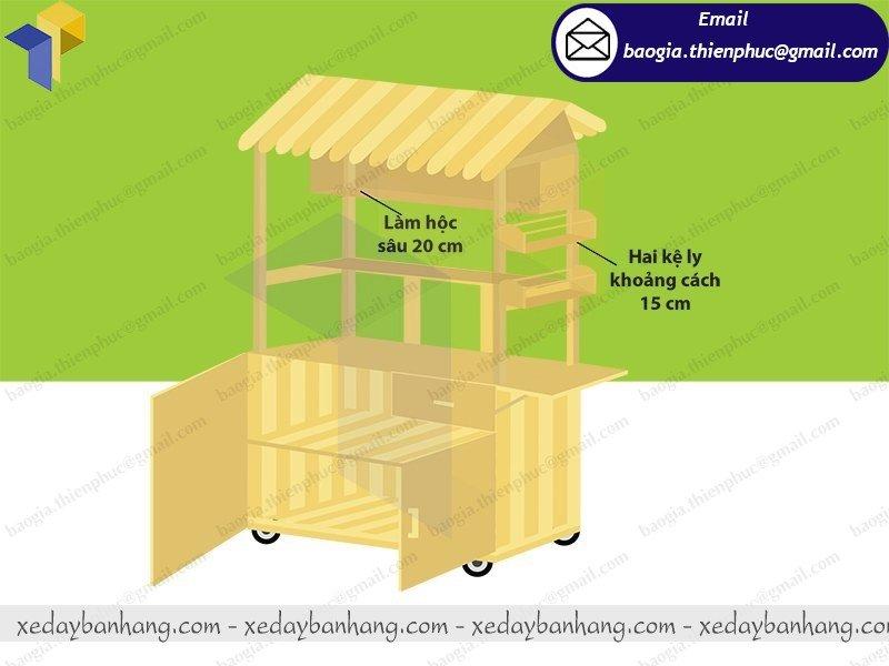 báo giá quầy gỗ bán sushi giá rẻ