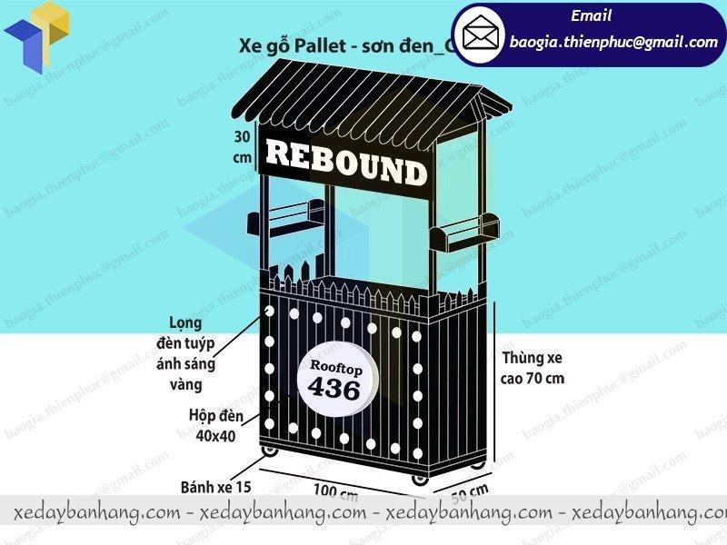 báo giá tủ bán hàng lưu động bằng gỗ