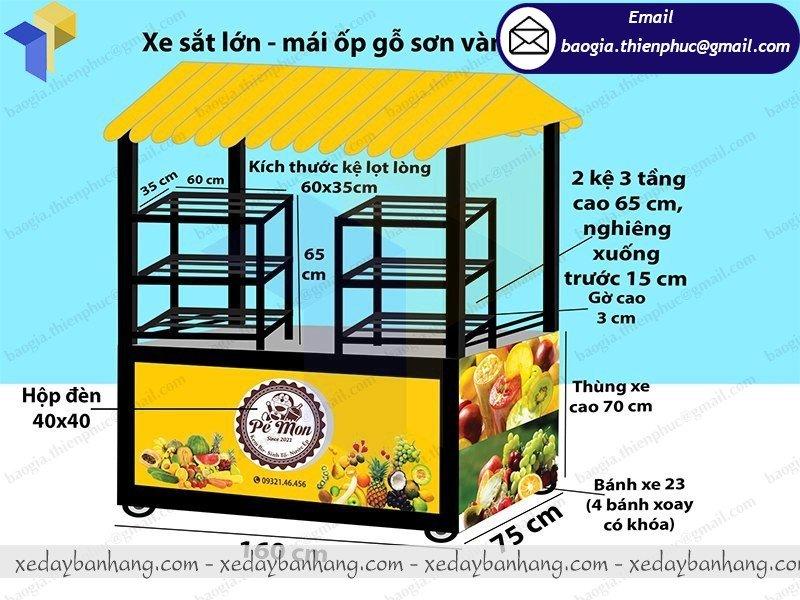 báo giá tủ bán trái cây ướp lạnh giá rẻ