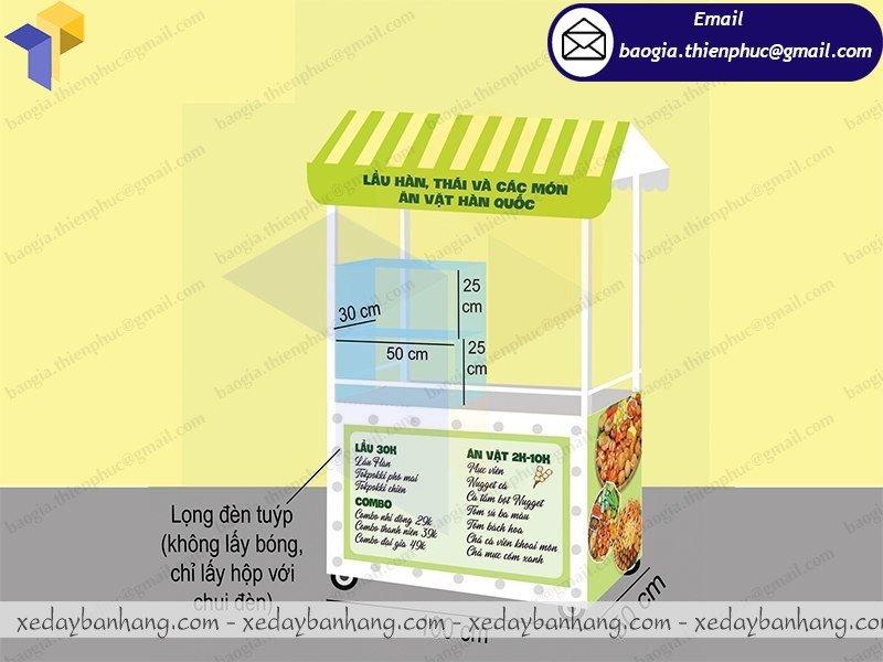 báo giá tủ sắt bán đồ ăn di động