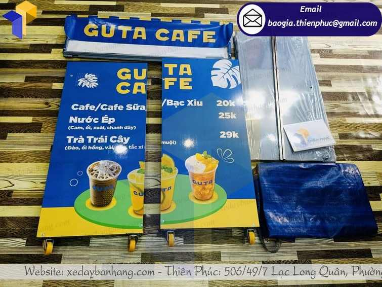 báo giá xe bán cà phê pha máy