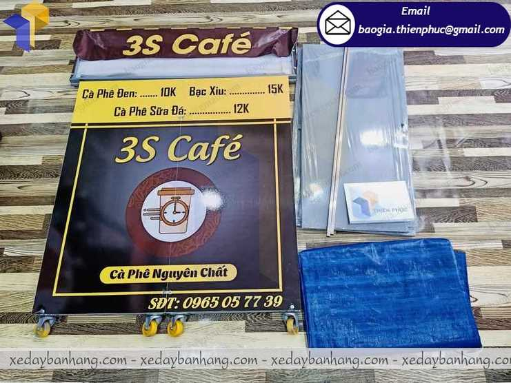 báo giá xe bán cà phê xếp gọn