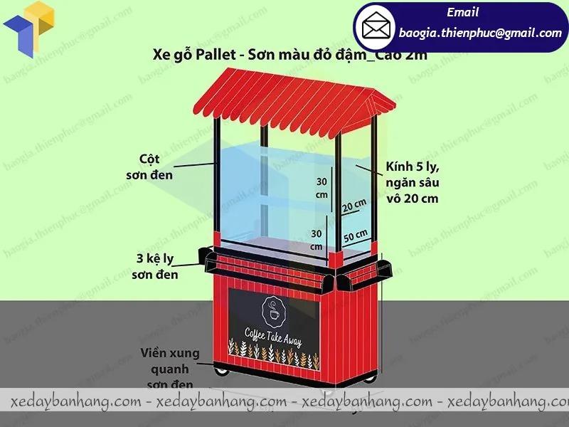 báo giá xe bán cafe mang đi bằng gỗ