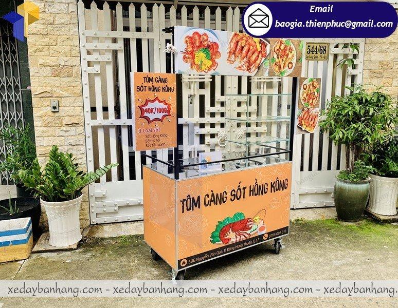 xe sắt bán thức ăn nhanh giá rẻ