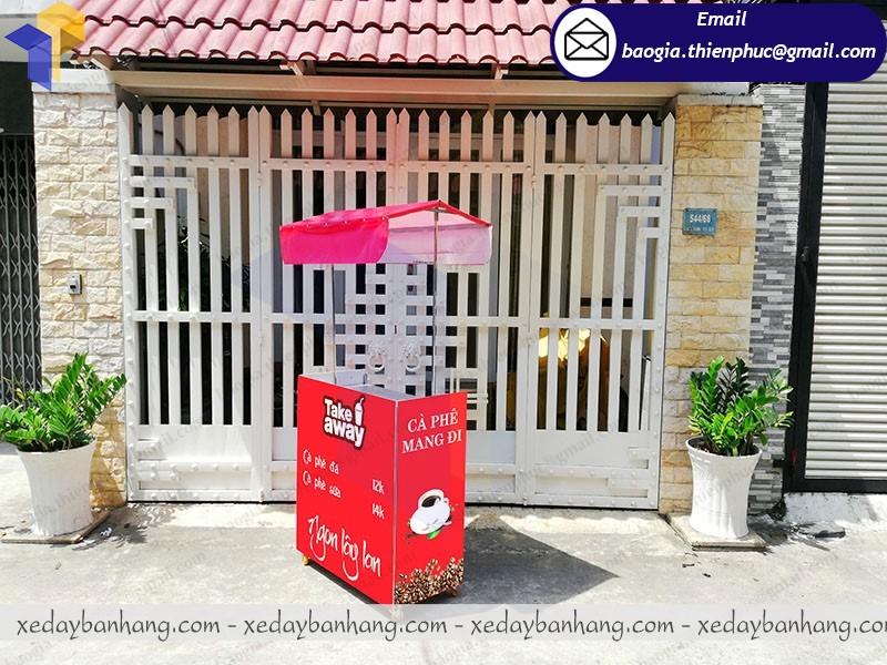 booth bán cafe pha máy lắp ráp giá rẻ