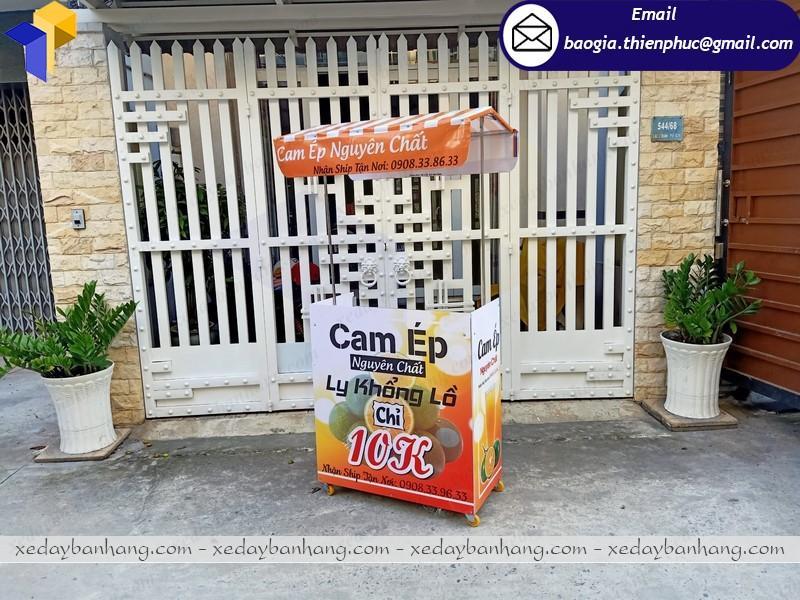 Tủ booth bán nước cam lắp ráp nha trang