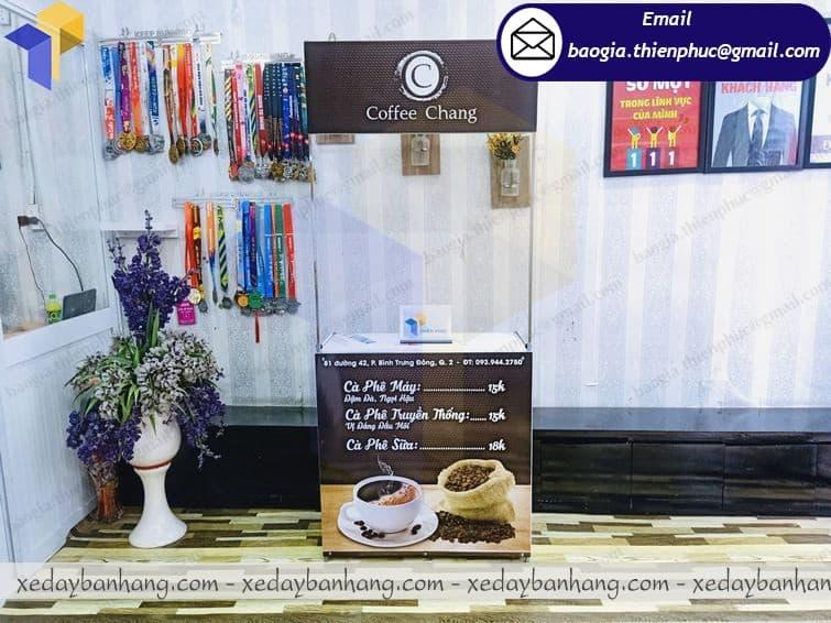 booth lắp ráp bán cà phê lưu động