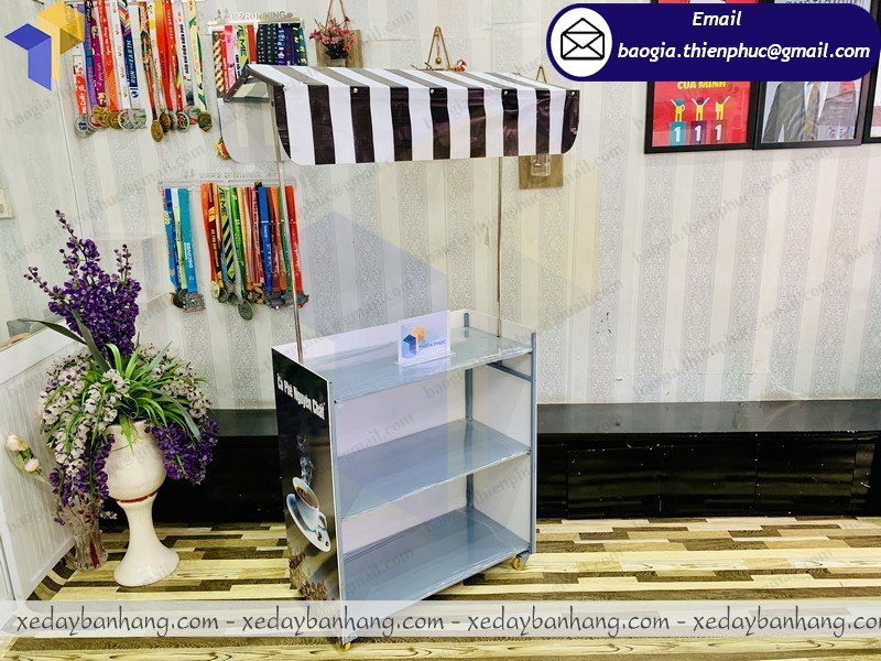 booth lắp ráp bán cafe nguyên chất đẹp