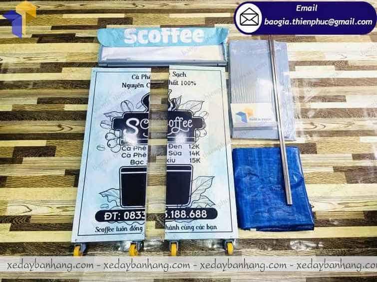 booth lắp ráp bán cà phê vỉa hè