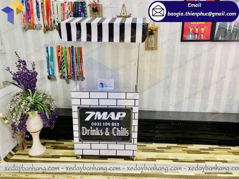 booth lắp ráp bán cafe đen đá
