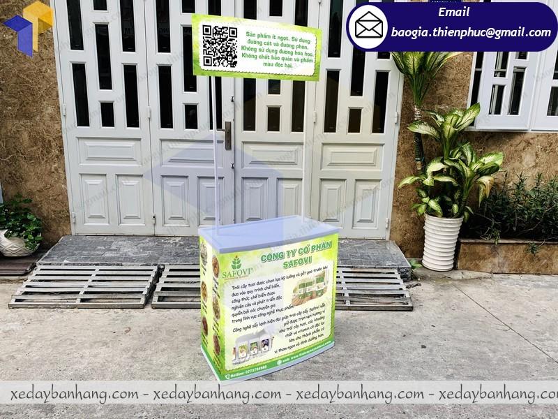 booth nhựa bán trái cây sấy giá rẻ