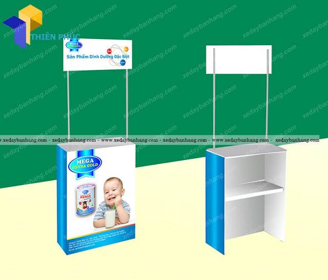 Booth sampling bán hàng lưu động giá rẻ cho các hãng sữa