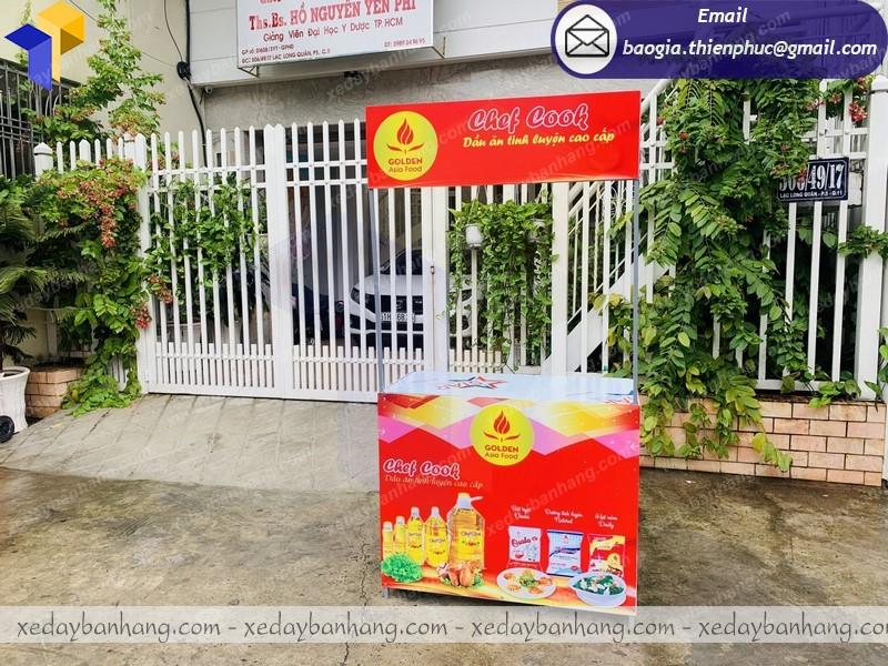 Thiết kế tủ bán hàng sampling siêu thị giá rẻ  tại kiên giang