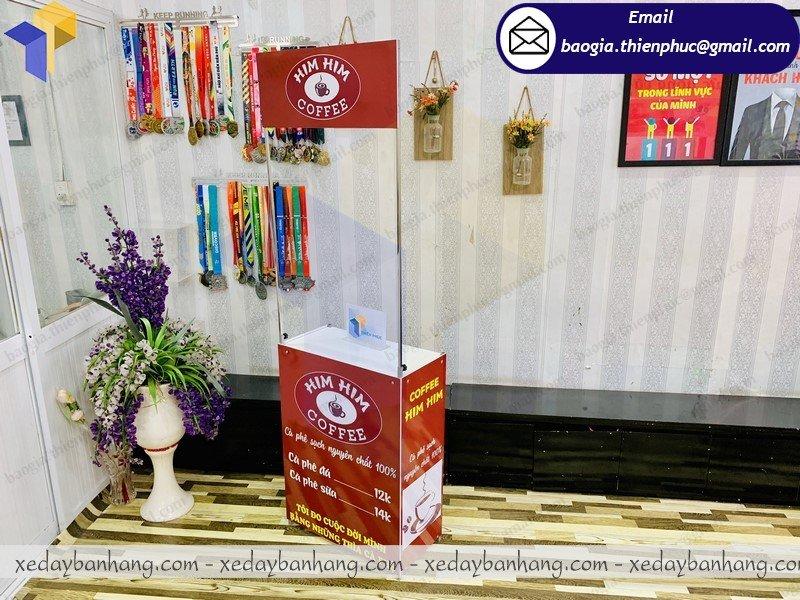booth bán cafe caccao bằng sắt giá rẻ