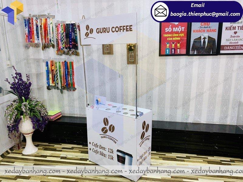 booth sắt bán cà phê latte giá rẻ