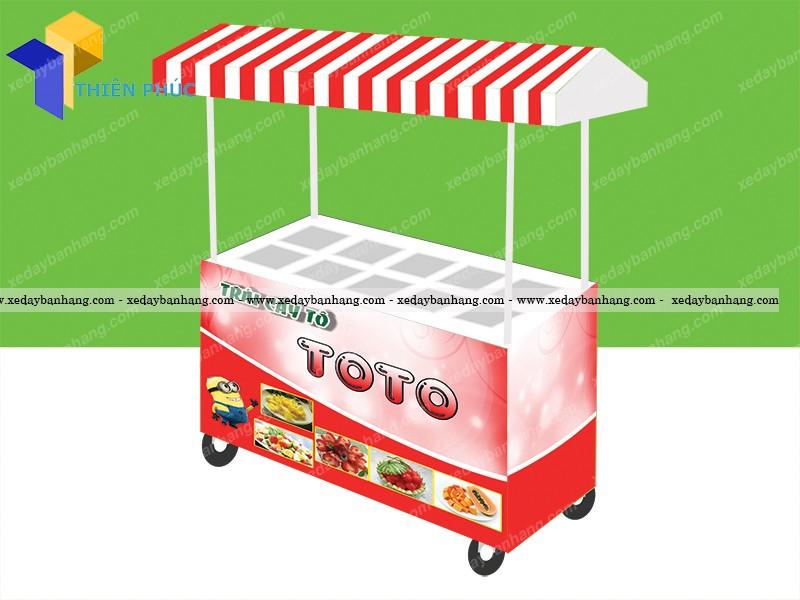 Chuyên sản xuất xe bán trái cây tô tại hcm