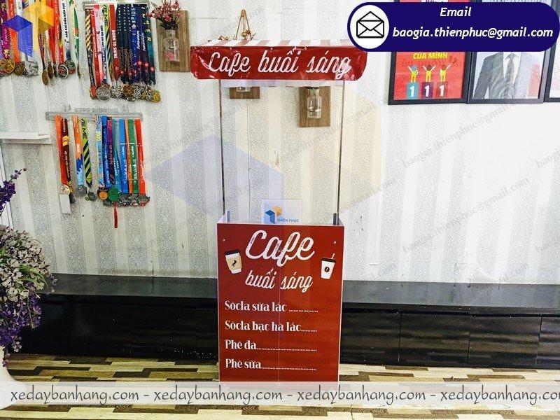 đặt làm booth mini bán cafe mang đi