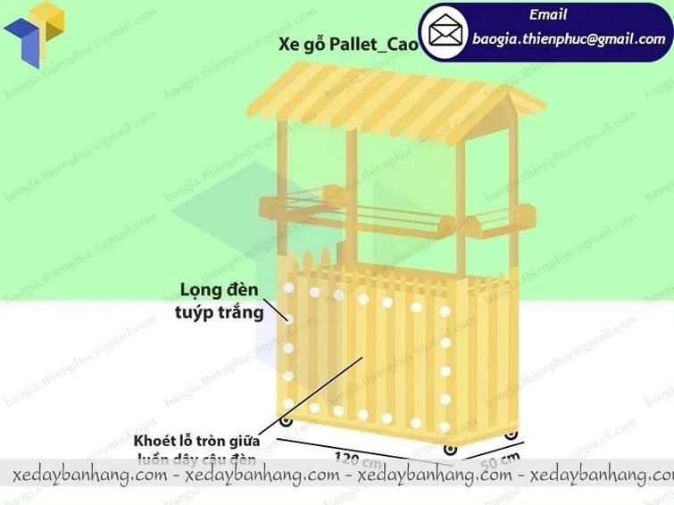 đặt làm tủ bán cam ép bằng gỗ