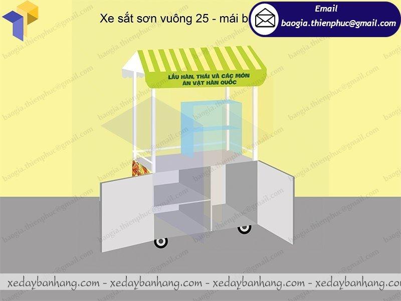 đặt làm tủ sắt bán đồ ăn di động