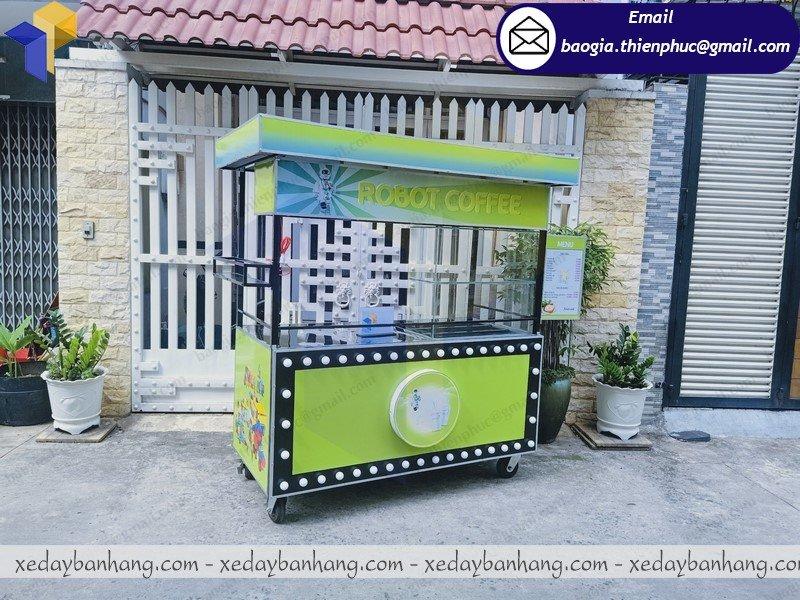 đặt làm xe sắt bán cafe bền đẹp