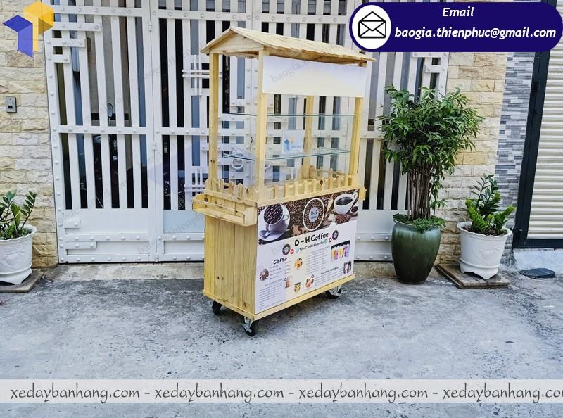 địa chỉ đóng tủ bán cà phê di động bằng gỗ