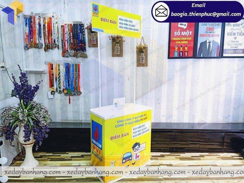 điểm bán  booth nhựa bán hàng hội chợ