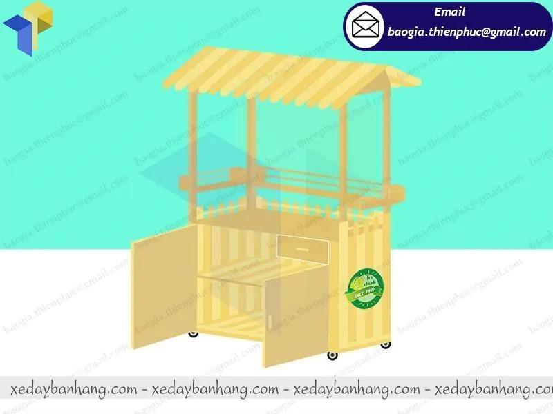 đóng quầy gỗ bán trà chanh vỉa hè
