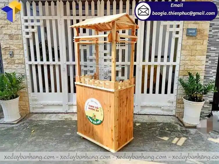 đóng tủ gỗ bán sinh tố di động