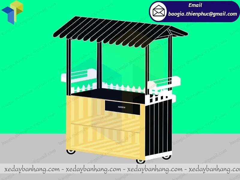 đóng xe gỗ bán cafe giá rẻ