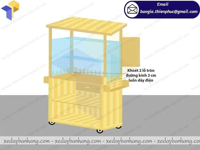 đóng xe gỗ bán sinh tố nước ép