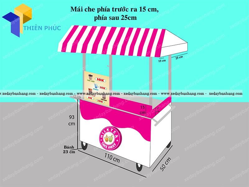Đóng xe trà sữa giá rẻ theo yêu cầu