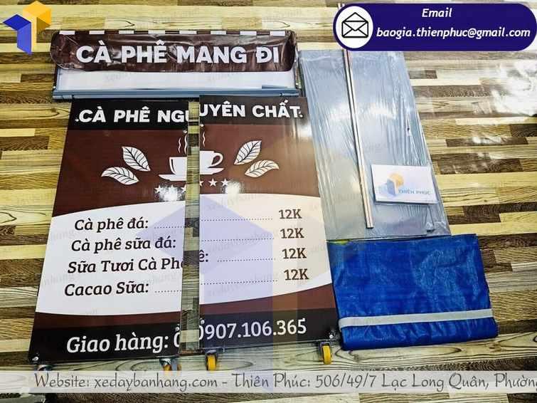 giá xe bán cà phê lắp ráp