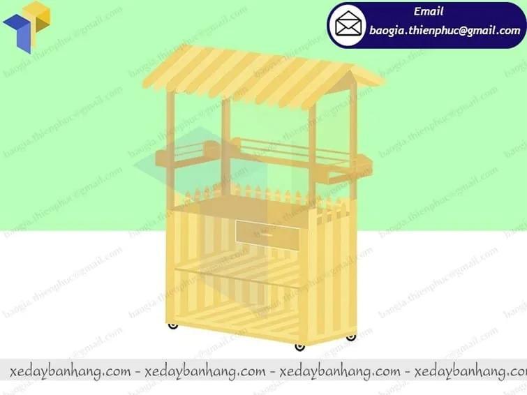 hình ảnh tủ bán cam ép bằng gỗ