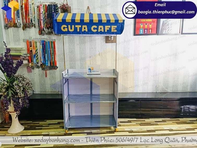 hình ảnh xe bán cà phê pha máy