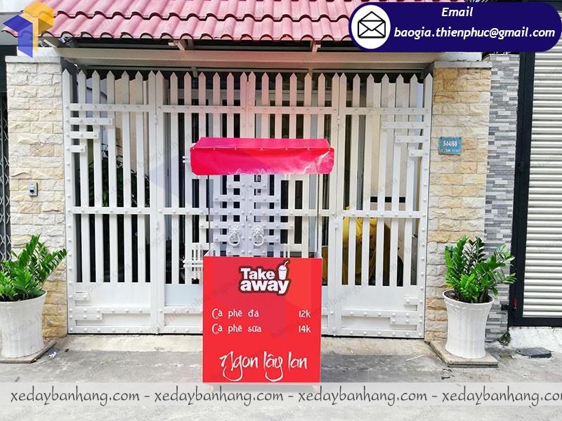 booth bán cafe pha máy lắp ráp