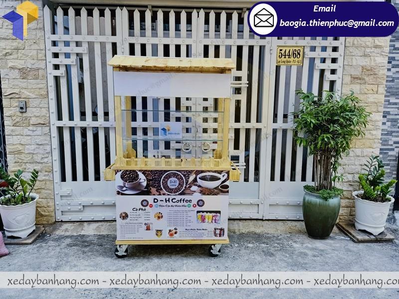 mẫu tủ bán cà phê di động bằng gỗ