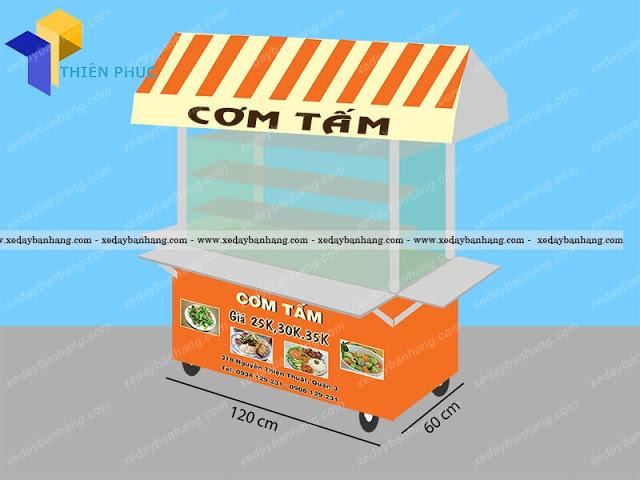 Mẫu xe bán cơm tấm đẹp giá rẻ tại Thiên Phúc