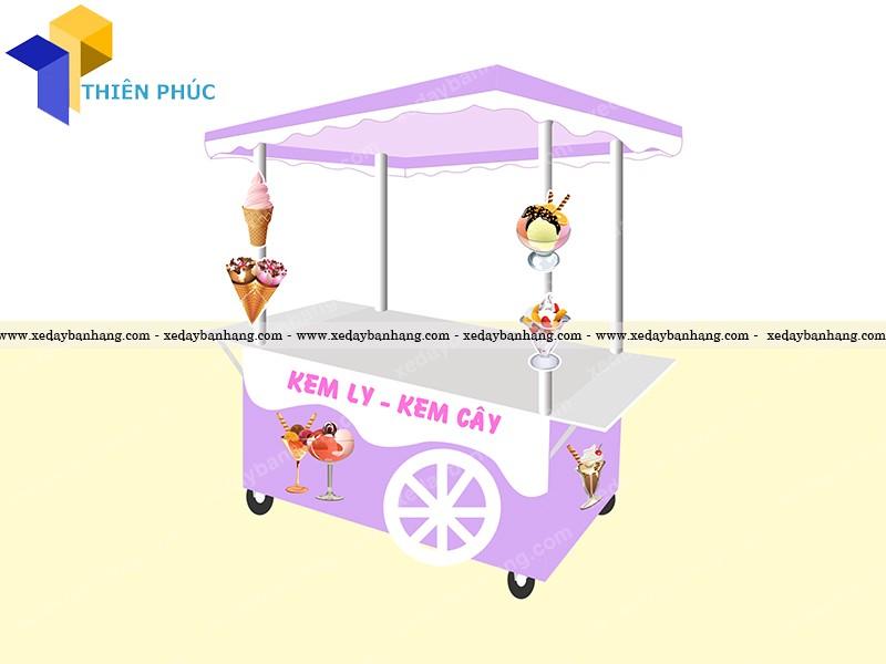Mẫu xe bán kem đẹp ấn tượng giá rẻ