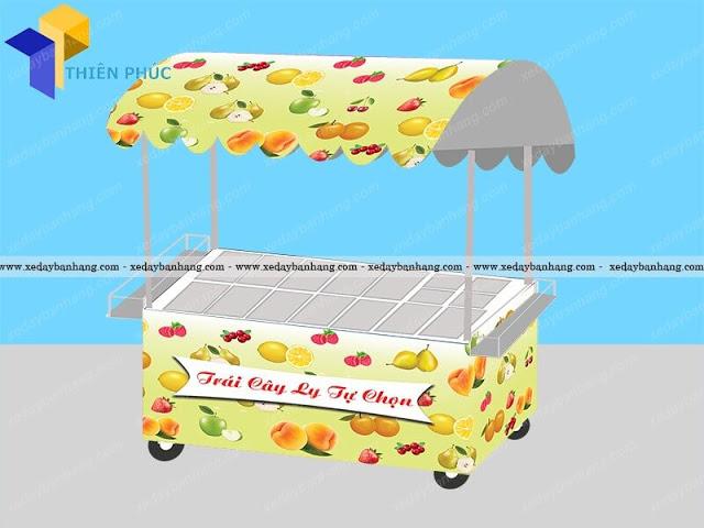 Mẫu xe bán trái cây dằm, xe trái cây tự chọn đẹp