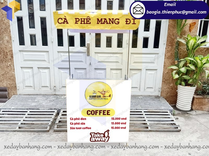 xe lắp ráp bán sữa tươi cafe
