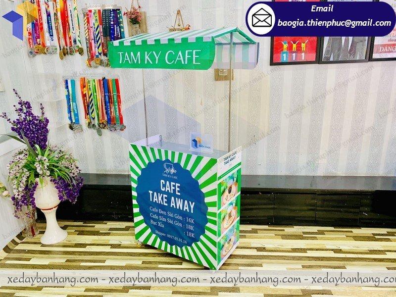 quầy bán cafe take away lắp ráp giá rẻ