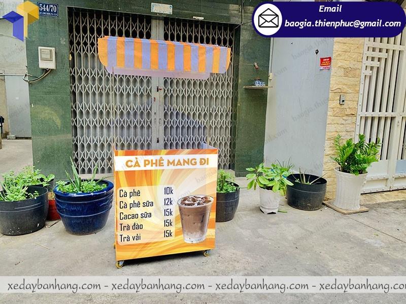 xe bán cafe trà sữa lắp ráp