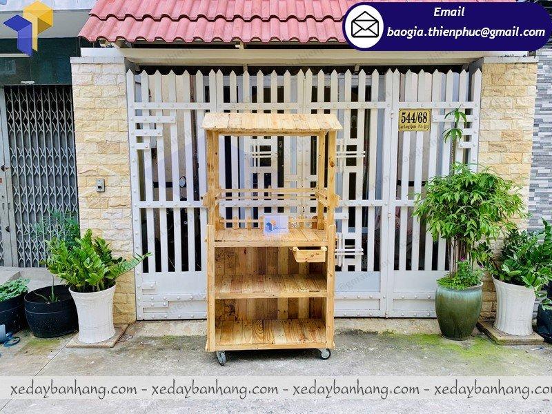 mẫu xe gỗ bán cafe hàng rong đẹp