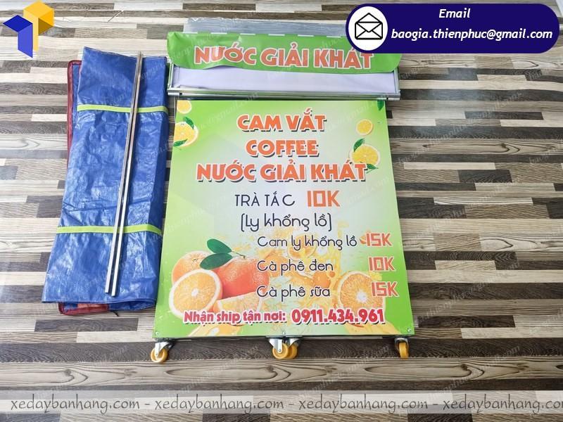 thiết kế booth lắp ráp bán nước cam giá rẻ Vĩnh Long